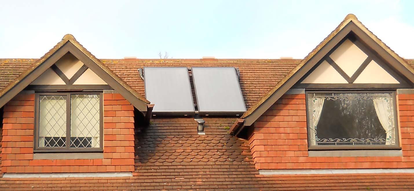 solar thermal collectors, dormer windows