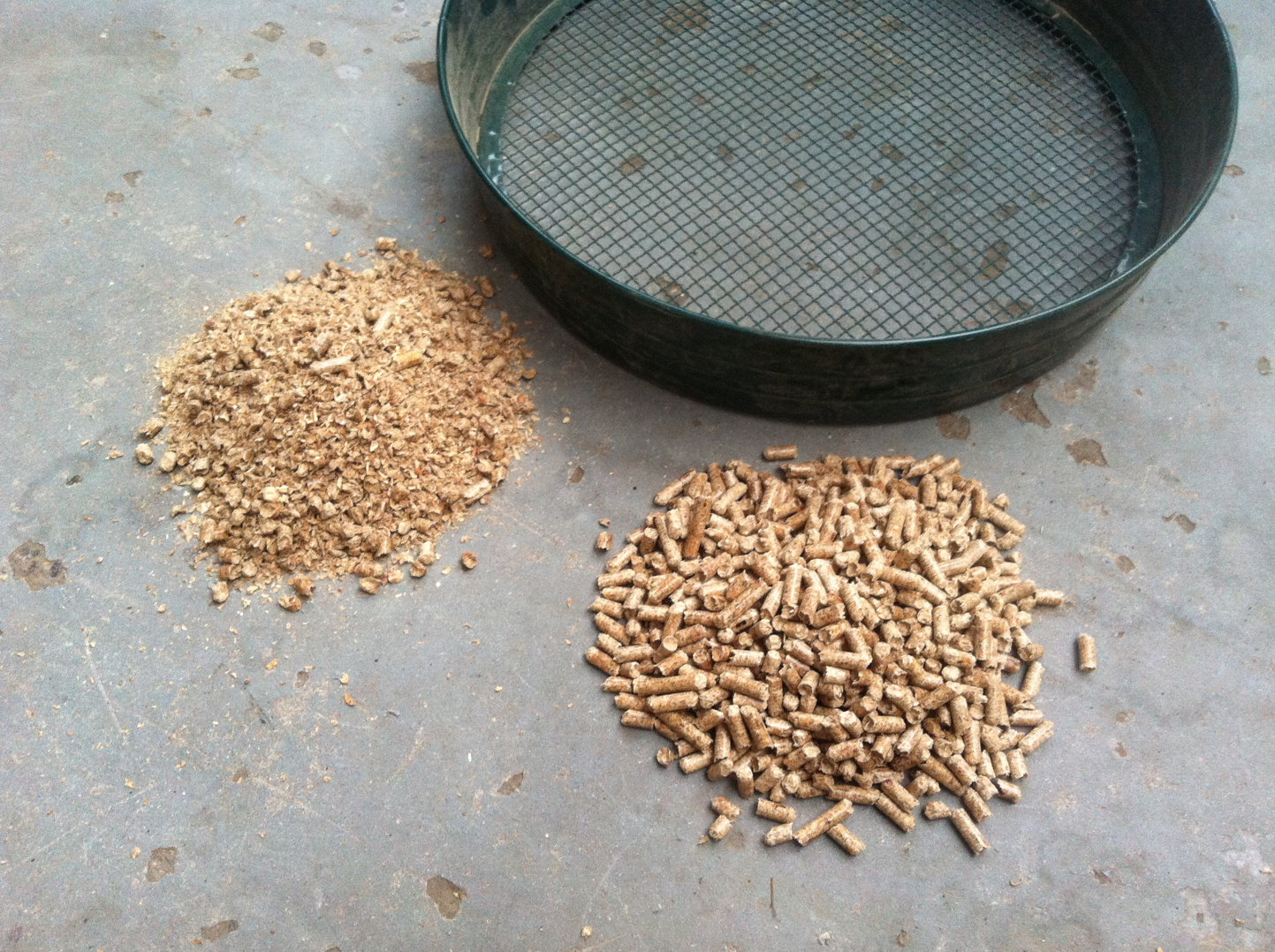 Pellets and riddle